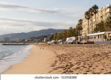 Cannes beach in November