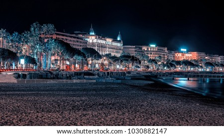 Cannes by night viewed