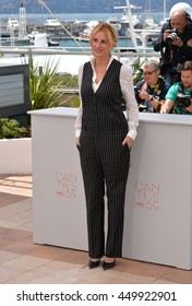 """CANNES, FR - MAY 12, 2016: Actress Julia Roberts at the photocall for """"Money Monster"""" at the 69th Festival de Cannes."""