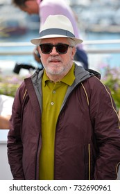 CANNES, FR - May 17, 2017: Pedro Almodovar at the photocall for Cannes Jury at the 70th Festival de Cannes