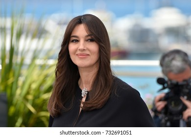 CANNES, FR - May 17, 2017: Monica Bellucci at the photocall for the Mistress of Ceremony at the 70th Festival de Cannes
