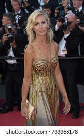 """CANNES, FR - May 19, 2017: Lady Victoria Hervey at the premiere for """"Okja"""" at the 70th Festival de Cannes"""