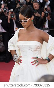 """CANNES, FR - May 19, 2017: Rihanna at the premiere for """"Okja"""" at the 70th Festival de Cannes"""