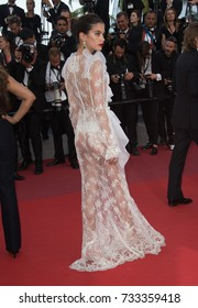 """CANNES, FR - May 22, 2017: Sara Sampaio at the premiere for """"The Killing of a Sacred Deer"""" at the 70th Festival de Cannes"""