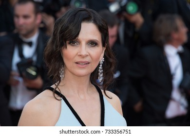 CANNES, FR - May 23, 2017: Juliette Binoche at the 70th Anniversary Gala for the Festival de Cannes