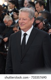 CANNES, FR - May 23, 2017: Former US Vice-President Al Gore at the 70th Anniversary Gala for the Festival de Cannes