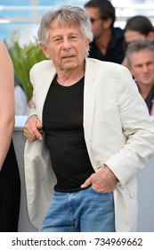 """CANNES, FR - May 27, 2017: Roman Polanski at the photocall for """"Based on a True Story"""" at the 70th Festival de Cannes"""