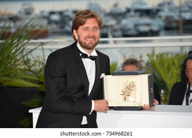 CANNES, FR - May 28, 2017: Ruben Ostlund at the Palme d'Or Awards photocall for the 70th Festival de Cannes