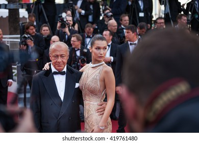 Cannes, France - 11 MAY 2016 - Fawaz Gruosi and Bella Hadid attend the screening of 'Cafe Society' at the opening gala of the annual 69th Cannes Film Festival at Palais des Festivals
