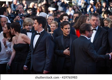 Cannes, France - 11 MAY 2016 - Gael Garcia Bernal attends the screening of 'Cafe Society' at the opening gala of the annual 69th Cannes Film Festival