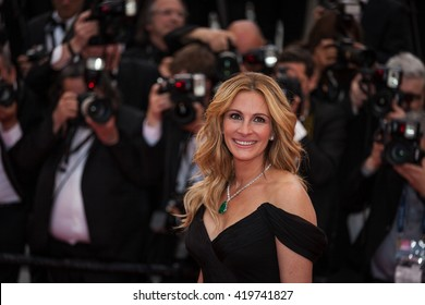 Cannes, France - 12 MAY 2016 - Julia Roberts attends the screening of 'Money Monster' at the annual 69th Cannes Film Festival