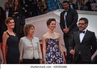 Cannes, France - 14 MAY 2016 - Kate Capshaw, Steven Spielberg, Ruby Barnhill, Mark Rylance, Claire van Kampen and Lucy Dahl attend 'The BFG (Le Bon Gros Geant)' premiere - 69 Cannes Film Festival