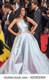 Cannes, France - 14 MAY 2016 - Mallika Sherawat attends the 'The BFG' Premiere during the annual 69th Cannes Film Festival at the Palais des Festivals