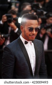 Cannes, France - 18 MAY 2016 - Formula One driver Lewis Hamilton attends 'The Unknown Girl (La Fille Inconnue)' Premiere during the 69th annual Cannes Film Festival