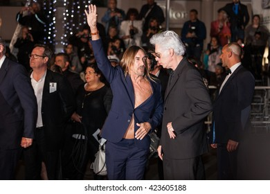 Cannes, France - 19 MAY 2016 - Iggy Pop and Jim Jarmusch attend the 'Gimme Danger' Premiere during the 69th annual Cannes Film Festival
