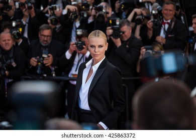 Cannes, France - 20 MAY 2016 - Charlize Theron attends the screening of 'The Last Face' at the annual 69th Cannes Film Festival