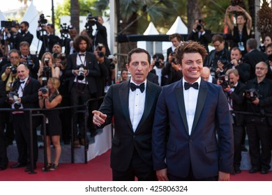 Cannes, France - 21 MAY 2016 - Gad Elmaleh and Kev Adams attend the 'Elle' Premiere during the 69th annual Cannes Film Festival