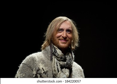 CANNES, FRANCE - JANUARY 22, 2011 - David Guetta giving a conference about music at Midem (music industry trade fair)