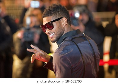 CANNES, FRANCE - JANUARY 22, 2011 - Usher on the red carpet of NRJ Music Award 2011 during the Midem (music industry trade fair)