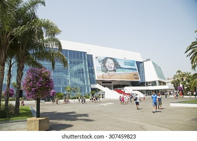 Cannes, France - July 05: The plateau in front of the Palais des Festivals on July 05. 2015. in Cannes, France