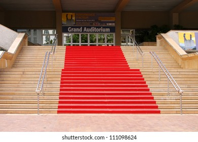 """CANNES, FRANCE - JUNE 13:  Red carpet, Palace of popular cinema festival, located on the famous """"La Croisette"""" Boulevard in Cannes, French Riviera, France, Europe; June 13, 2010"""