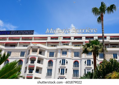 CANNES, FRANCE - JUNE 20 : Hotel Majestic on 20 June 2016 at Cannes, France. Hotel Majestic is one of the many luxury hotels in Cannes.