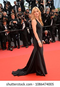 """CANNES, FRANCE. May 08, 2018: Georgia May Jagger at the gala screening for """"Everybody Knows"""" at the 71st Festival de Cannes"""