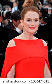 "CANNES, FRANCE. May 08, 2018: Julianne Moore at the gala screening for ""Everybody Knows"" at the 71st Festival de Cannes"