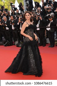 "CANNES, FRANCE. May 08, 2018: Penelope Cruz at the gala screening for ""Everybody Knows"" at the 71st Festival de Cannes"