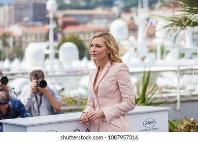 CANNES, FRANCE - MAY 08, 2018: Cate Blanchet, attends the photocall for Jury during the 71st annual Cannes Film Festival at Palais des Festivals on May 8, 2018 in Cannes, France.