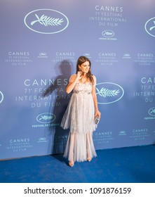 CANNES, FRANCE - MAY 08, 2018: Penelope Cruz, wearing jewels by Atelier Swarovski Fine Jewelry arrive at the Gala dinner during the 71st annual Cannes Film Festival