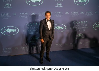 CANNES, FRANCE - MAY 08, 2018: Actor Javier Bardem arrives at the Gala dinner during the 71st annual Cannes Film Festival