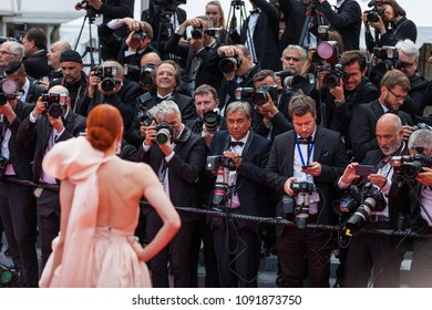 CANNES, FRANCE - MAY 09, 2018:  Barbara Meier during the screening of 'Everybody Knows (Todos Lo Saben)' and the opening gala during the 71st annual Cannes Film Festival