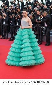 CANNES, FRANCE - MAY 09, 2018: Fan Bingbing attends the screening of 'Everybody Knows (Todos Lo Saben)' and the opening gala during the 71st annual Cannes Film Festival