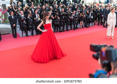 CANNES, FRANCE - MAY 09, 2018: Annabelle Belmondo attends the screening of 'Everybody Knows (Todos Lo Saben)' and the opening gala during the 71st annual Cannes Film Festival