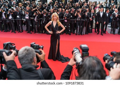 CANNES, FRANCE - MAY 09, 2018:  Georgia May Jagger attends the screening of 'Everybody Knows (Todos Lo Saben)' and the opening gala during the 71st annual Cannes Film Festival