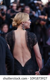 CANNES, FRANCE - MAY 09, 2018: Cate Blanchet attends the screening of 'Everybody Knows (Todos Lo Saben)' and the opening gala during the 71st annual Cannes Film Festival