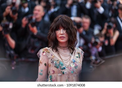 CANNES, FRANCE - MAY 09, 2018: Isabelle Adjani attends the screening of 'Everybody Knows (Todos Lo Saben)' and the opening gala during the 71st annual Cannes Film Festival