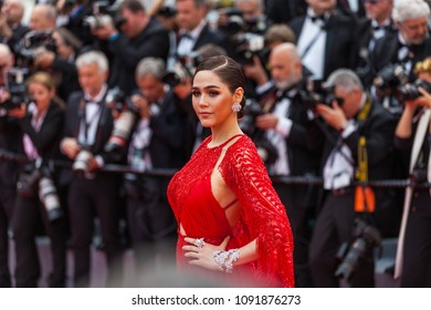CANNES, FRANCE - MAY 09, 2018: Araya Hargate attends the screening of 'Everybody Knows (Todos Lo Saben)' and the opening gala during the 71st annual Cannes Film Festival