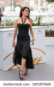 CANNES, FRANCE - MAY 09, 2018:  Spanish Actress Penelope Cruz attends the photocall for 'Everybody Knows (Todos Lo Saben)' during the 71st annual Cannes Film Festival