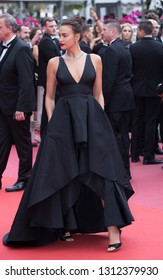 CANNES, FRANCE - MAY 09: Model Irina Shayk attends the screening of Yomeddine during the 71st Cannes Film Festival on May 9, 2018 in Cannes, France.