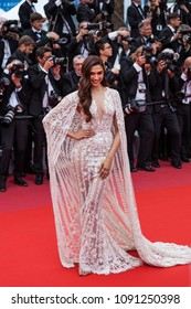 CANNES, FRANCE - MAY 10, 2018:  Deepika Padukone attends the screening of 'Sorry Angel (Plaire, Aimer Et Courir Vite)' during the 71st annual Cannes Film Festival