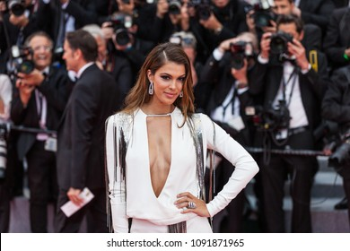 CANNES, FRANCE - MAY 10, 2018: Iris Mittenaere attends the screening of 'Sorry Angel (Plaire, Aimer Et Courir Vite)' during the 71st annual Cannes Film Festival