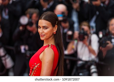 CANNES, FRANCE - MAY 10, 2018:  Model Irina Shayk attends the screening of 'Sorry Angel (Plaire, Aimer Et Courir Vite)' during the 71st annual Cannes Film Festival