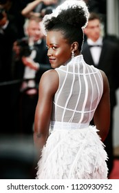 CANNES, FRANCE - MAY 10: Lupita Nyong'o attends the premiere of 'Sorry Angel' during the 71st  Cannes Film Festival on May 10, 2018 in Cannes, France