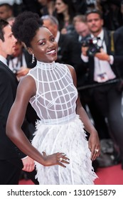 CANNES, FRANCE - MAY 10: Lupita Nyong'o attends the screening of Sorry Angel during the 71st  Cannes Film Festival at Palais des Festivals on May 10, 2018 in Cannes, France.