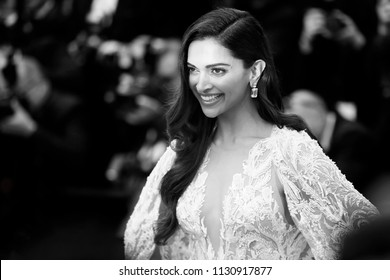 CANNES, FRANCE - MAY 10:Deepika Padukone attends the premiere of 'Sorry Angel' during the 71st  Cannes Film Festival on May 10, 2018 in Cannes, France