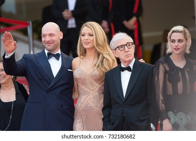 CANNES, FRANCE - MAY 11, 2016:  C. Stoll, J. Eisenberg, B. Lively, K. Stewart, W. Allen attend the 'Cafe Society' premiere and the Opening Night Gala. 69th annual Cannes Film Festival