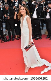 """CANNES, FRANCE. May 11, 2018: Elsa Zylberstein at the gala screening for """"The Eternals"""" at the 71st Festival de Cannes"""