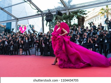 CANNES, FRANCE - MAY 11, 2018:  Indian actress Deepika Padukone arrives on May 11, 2018 for the screening of the film 'Ash is Purest White' at the 71st edition of the Cannes Film Festival